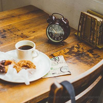 Coffee Break コーヒーブレイク CLOCK 置き時計 目覚まし時計 img2