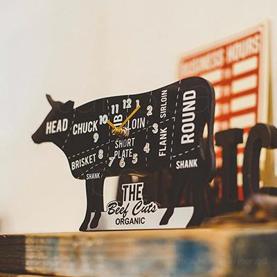 Meat Cuts ミートカッツ WALL CLOCK 壁掛け時計 置き時計 img2