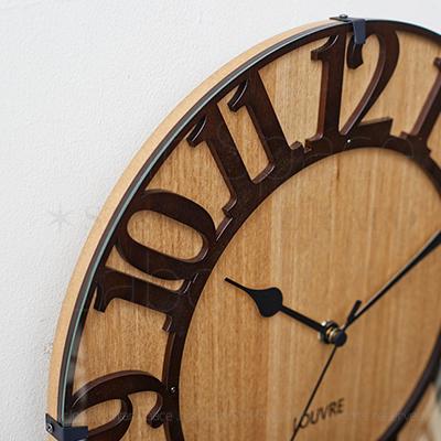 Musée -wood- ミュゼ -ウッド 壁掛け時計 電波ステップムーブメント img2