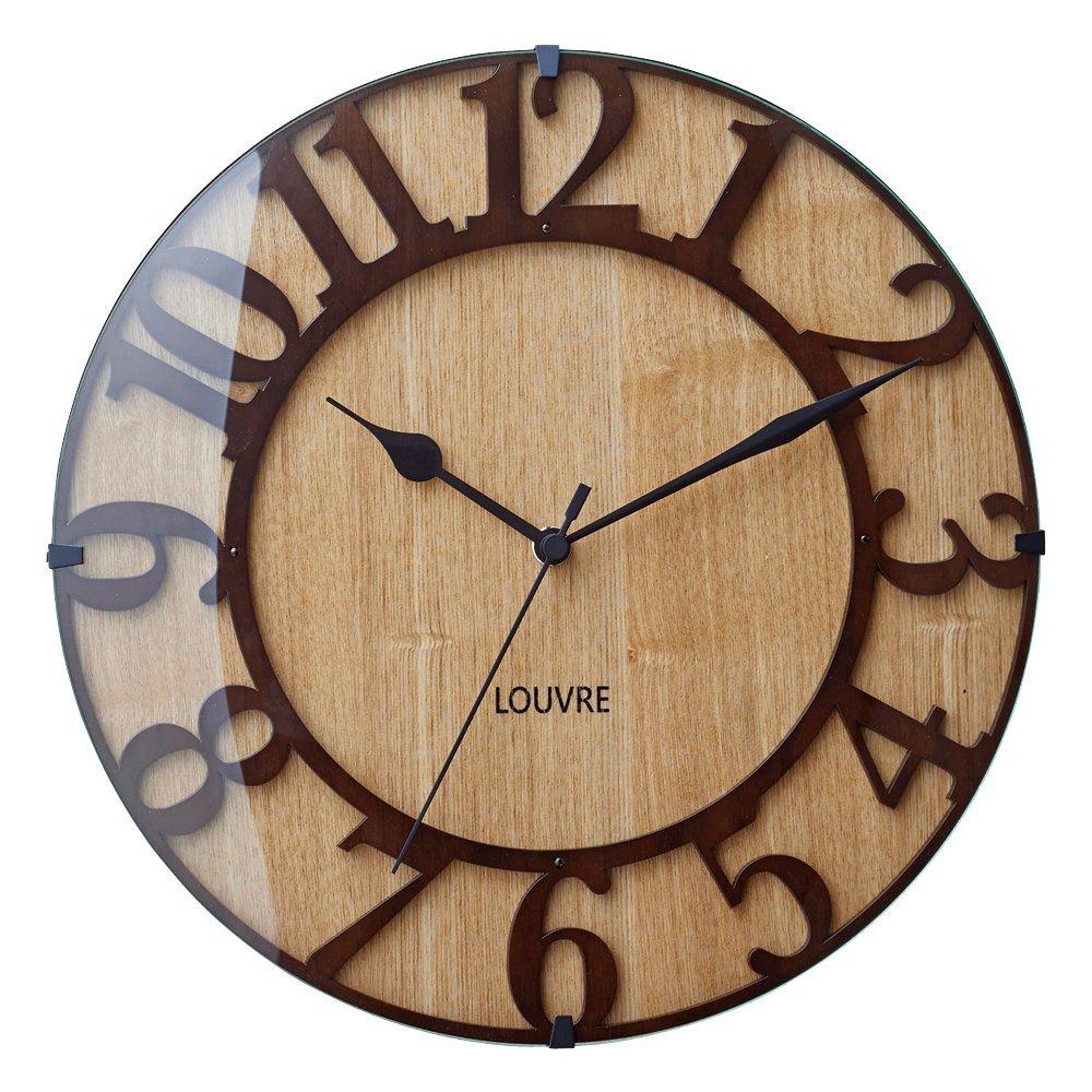 Musée -wood- ミュゼ -ウッド 壁掛け時計 電波ステップムーブメント img3_thumb