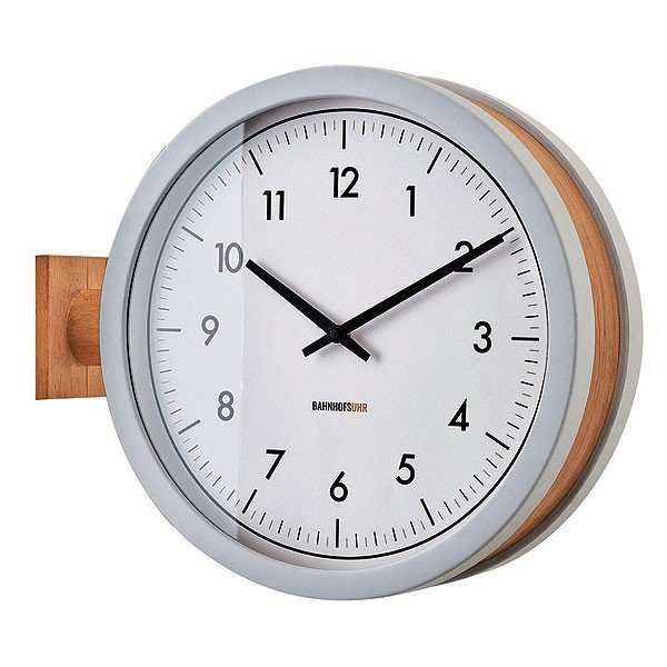 CL-3276 Mccarty マッカーティ WALL CLOCK 壁掛け時計 両面時計 静かな時計 2way